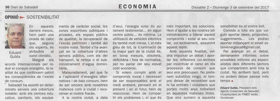 diari sabadell 2 de setembre President