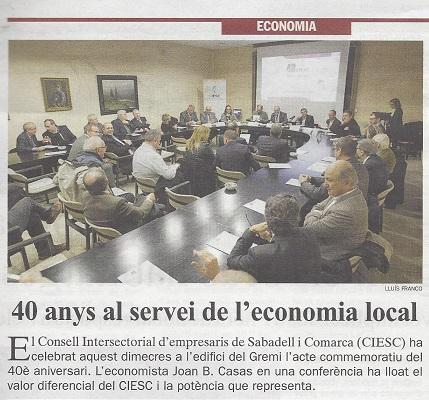 diari sabadell 30 11 2017 40 anys CIESC